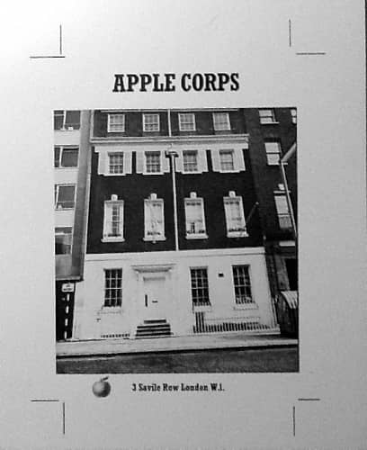 Artistic proof for Apple Corps postcard