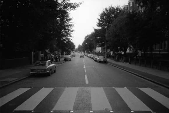 Abbey Road, taken on the morning of the album cover shoot, 8 August 1969