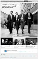 Advertisement for The Beatles on Apple's iTunes