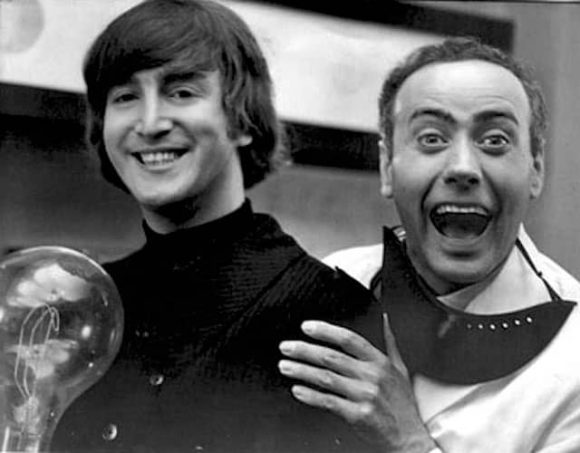 John Lennon with Victor Spinetti in Help!, 1965