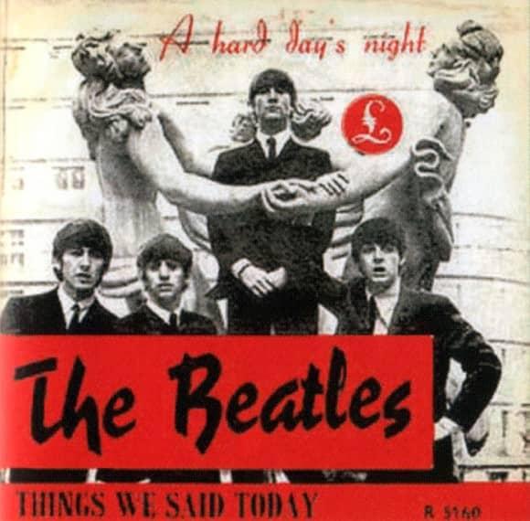 A Hard Day's Night single artwork - Norway