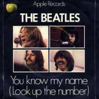 You Know My Name (Look Up The Number) single artwork – United Kingdom