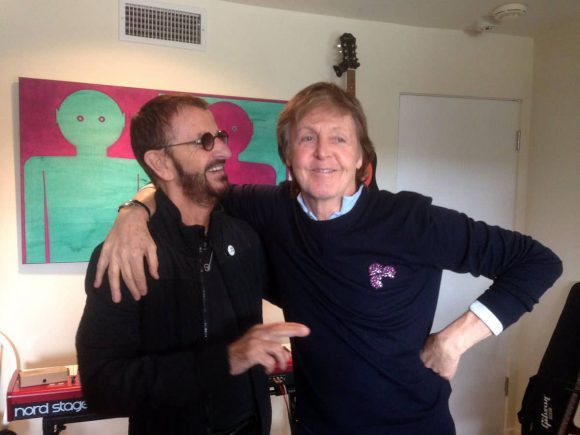 Ringo Starr and Paul McCartney, 20 February 2017