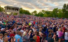 The crowd at Ringo Starr's show at Fraze Pavilion, Kettering, Ohio, 11 September 2018