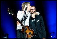 Paul McCartney and Ringo Starr at Dodger Stadium, Los Angeles, 23 July 2019