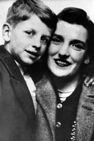 Ringo Starr (Richard Starkey) with his mother Elsie, 1940s