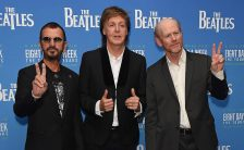 "Ringo Starr, Paul McCartney and Ron Howard attend the World Premiere of ""The Beatles: Eight Days A Week - The Touring Years"