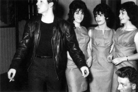 Paul McCartney and the Shimmy-Shimmy Queens at Aintree Institute, Liverpool, 19 August 1961