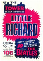 Poster for The Beatles and Little Richard, Liverpool, 12 October 1962