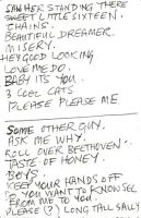 Setlist from The Beatles' appearance at the Azena Ballroom, Sheffield, 2 April 1963