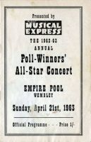 Programme for the NME Poll-Winners' All-Star Concert, 21 April 1963