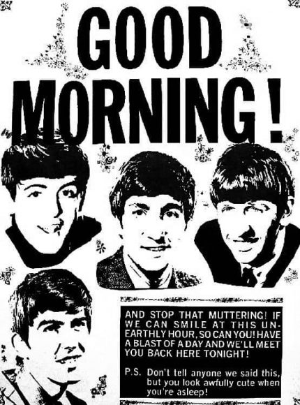 The Beatles say good morning!, 1964