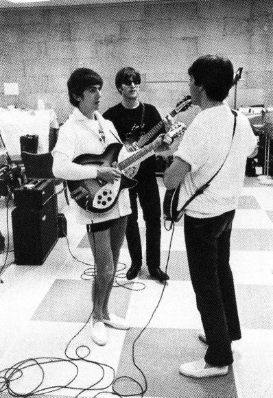 The Beatles rehearsing for their second Ed Sullivan Show, 15 February 1964