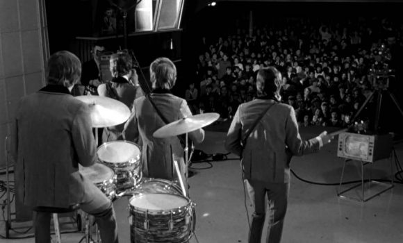 The Beatles filming A Hard Day's Night at the Scala Theatre, London, March 1964