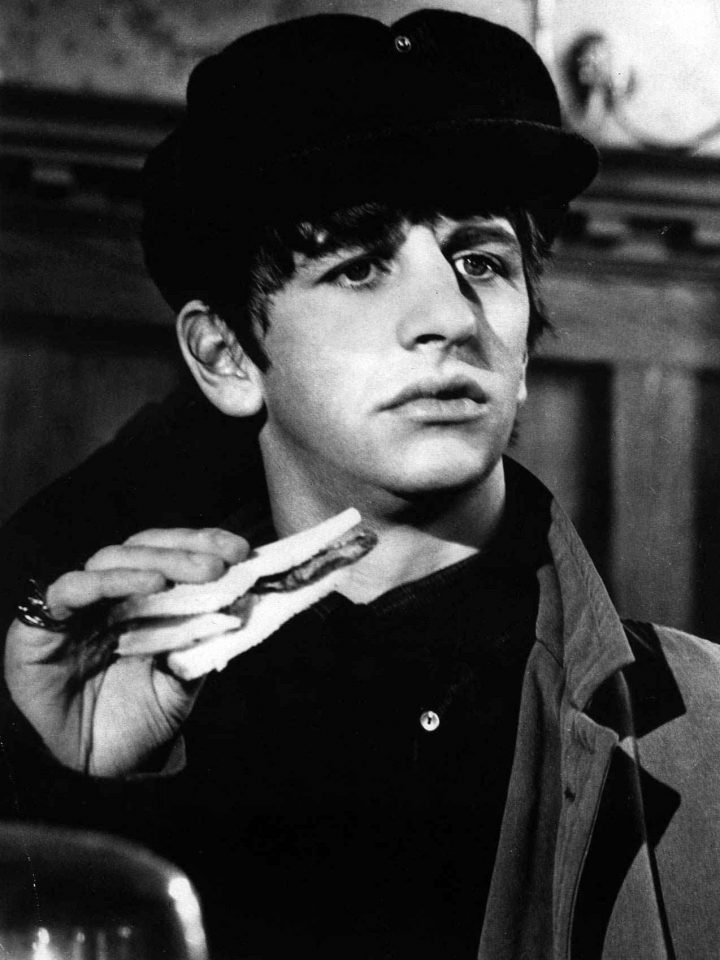 Ringo Starr in A Hard Day's Night, 10 March 1964