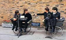 The Beatles filming the trailer for A Hard Day's Night, 3 April 1964