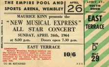 Ticket for The Beatles at the NME Poll-Winners' All-Star Concert, 26 April 1964