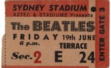 Ticket for The Beatles in Sydney, Australia, 19 June 1964
