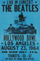Poster for The Beatles at the Hollywood Bowl, 23 August 1964