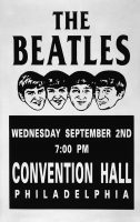 Poster for The Beatles at the Convention Hall, Philadelphia, 2 September 1964