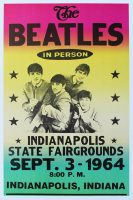 Poster for The Beatles at State Fair Coliseum, Indianapolis, 3 September 1964
