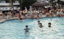 The Beatles filming Help! in the Bahamas, 23 February 1965