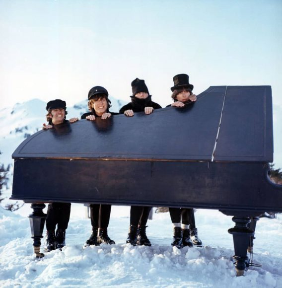The Beatles in the Ticket To Ride scene from Help!, 20 March 1965
