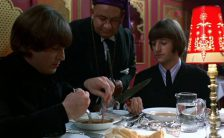 John Lennon and Ringo Starr in the Indian restaurant scene from Help!, April 1965