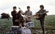 The Beatles filming Help! on Salisbury Plain, May 1965
