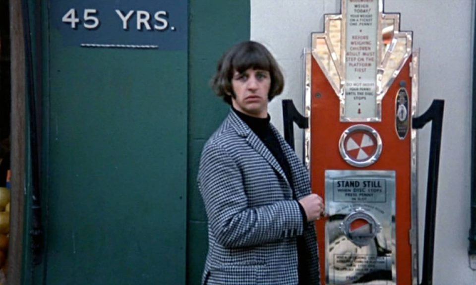 Ringo Starr in the 'Attempt number 3' scene in Help!, London, 9 May 1965