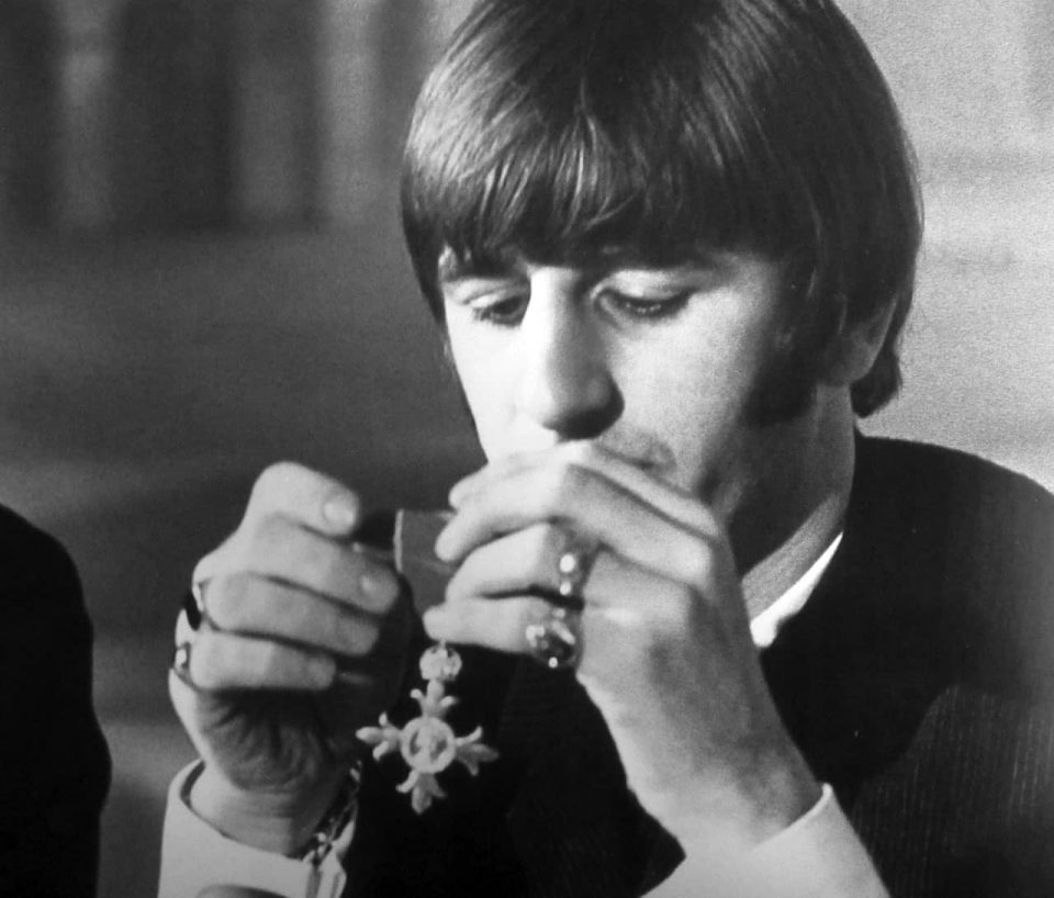 Ringo Starr with his MBE, 26 October 1965