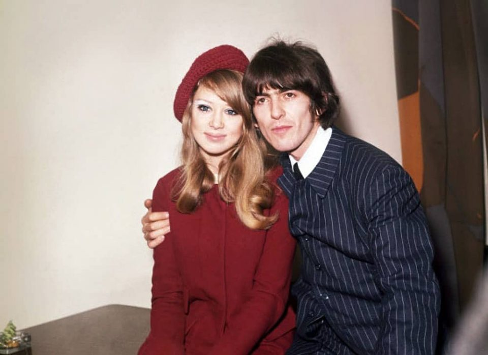 George and Pattie Harrison on their wedding day, 21 January 1966