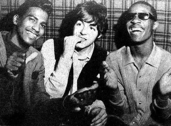 Paul McCartney And Stevie Wonder At The Scotch Of St James Club London 3