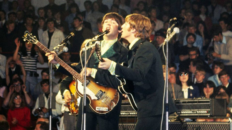 The Beatles live in Essen, Germany, 25 June 1966