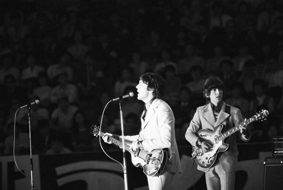 The Beatles at the Nippon Budokan Hall in Tokyo, Japan, 1 July 1966