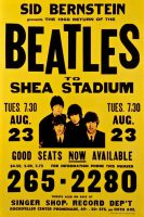 Poster for The Beatles at Shea Stadium, 23 August 1966