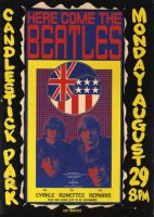Poster for The Beatles at Candlestick Park, San Francisco, 29 August 1966