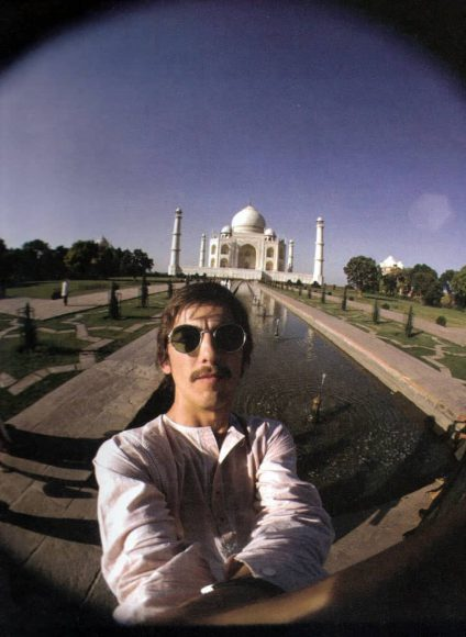 George Harrison at the Taj Mahal, India, September 1966