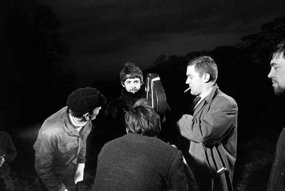 Paul McCartney filming the Strawberry Fields Forever promo film, January 1967