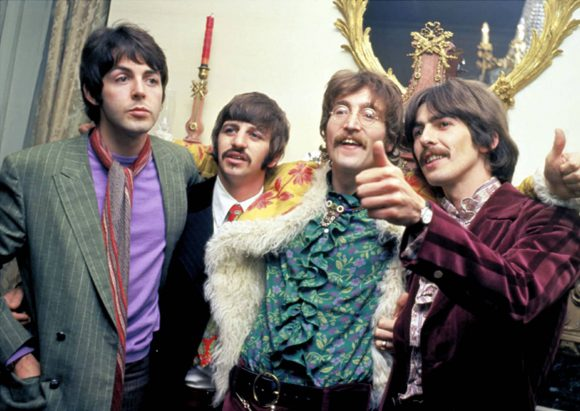 The Beatles at the Sgt Pepper launch party, 19 May 1967