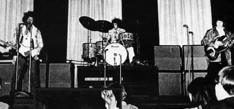 The Jimi Hendrix Experience at the Saville Theatre, London, 4 June 1967