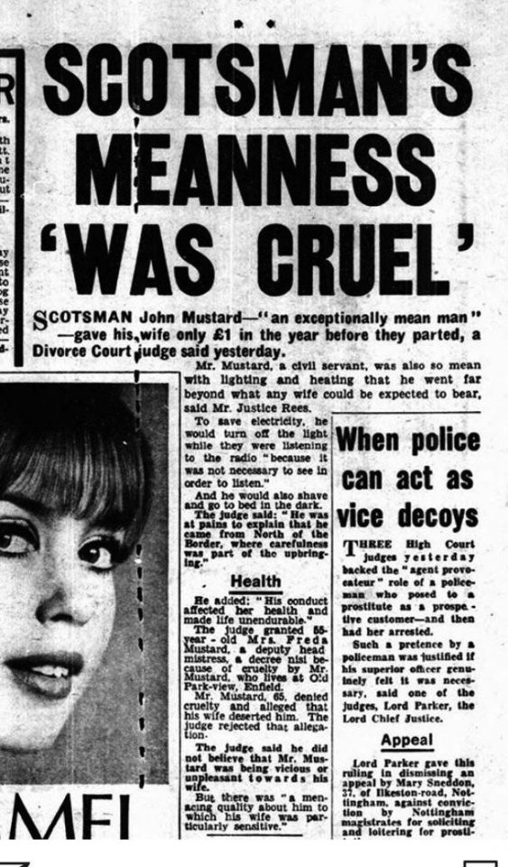 Daily Mirror article on mean Mr John Mustard, 7 June 1967