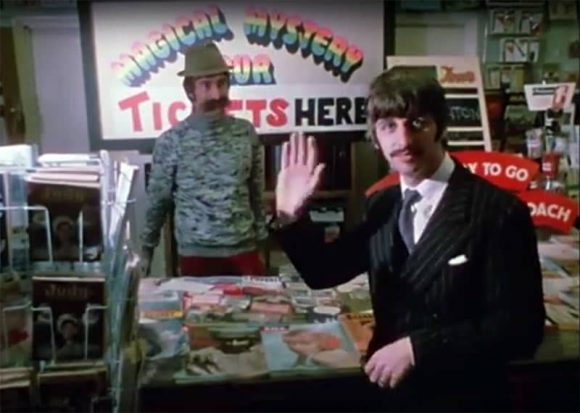 Ringo Starr and John Lennon in Magical Mystery Tour, 22 September 1967