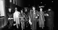 Paul McCartney, Ringo Starr, Jane Asher and others at the Magical Mystery Tour party, 21 December 1967