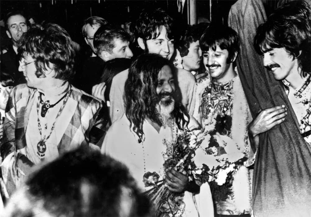 The Beatles with Maharishi Mahesh Yogi, 1967