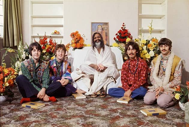 Image result for the beatles and the maharishi images