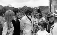 Jane Asher and Paul McCartney at Mike McCartney's wedding, 7 June 1968