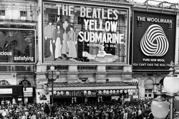 The world premiere of The Beatles' Yellow Submarine, London, 17 July 1968