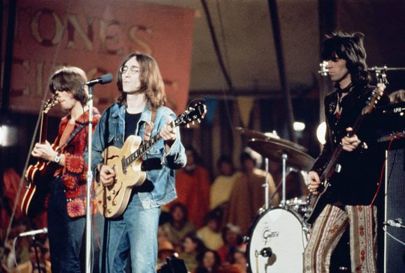 John Lennon and The Dirty Mac at the Rolling Stones' Rock And Roll Circus, 11 December 1968