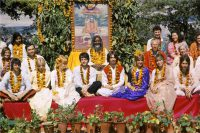 The Beatles in Rishikesh, India with Maharishi Mahesh Yogi, 1968